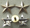 WWII Two Star General Rank Sterling Silver  Screw back