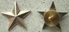WWII One Star General Rank Sterling Silver Screw Back