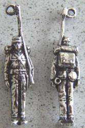 Civil War Union Soldier Charm Sterling, Weingarten Gallery Item Number P-1548