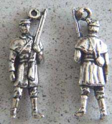 Civil War CSA Soldier Charm Sterling Civil War, CSA, CSA Soldier, rebel, Johnny Rep