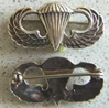 Paratrooper Cuff Links Sterling Silver, Weingarten Gallery Item Number P-1568