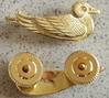"Sitting Duck pin aka ""Sea Squatters Club"" WWII Sitting Duck, Sea Squatters Club, Sterling Duck, WWII Duck Award"