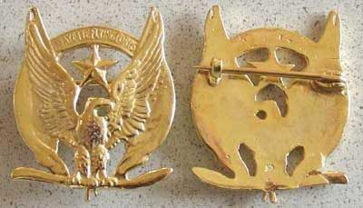 Lafayette Flying Corp Sterling Badge