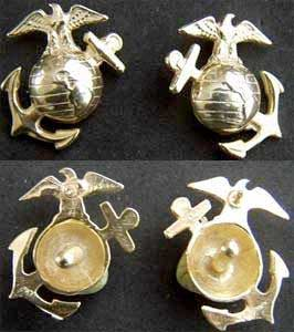 WWI USMC Enlisted EGA Sterling with Gold