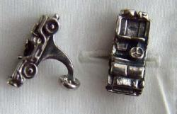 WWII Jeep Sterling Silver Cuff Links, Weingarten Gallery Item Number P-1738CL