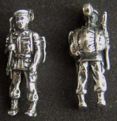 Special Forces Man in Combat Gear Sterling Charm SF, Special Forces, SF Combat, SF Charm