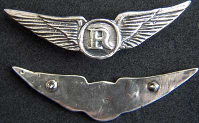 Helicopter Crew Wings - Recon / Observer Sterling