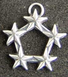 5 Star Rank Charm Sterling Silver, Weingarten Gallery Item Number P-1936C
