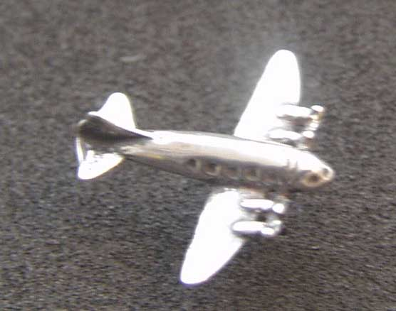C-54 / DC-4 Sterling Charm Tie Tack, Weingarten Gallery Item Number P-2093T