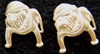USMC Bulldog Earrings sterling studs, Weingarten Gallery Item Number P-2105S