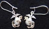 EGA Earrings Sterling Officer on Earwires, Weingarten Gallery Item Number P-2106OL