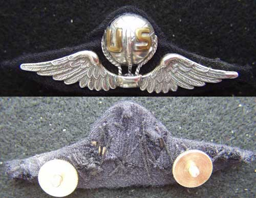 WWI Balloon Pilot French Design Sterling Balloon Pilot, sterling pilot, WWI, WWI Balloon Pilot, WWI Balloon