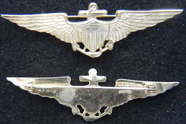 1920-1930s US Navy Pilot wing vaulted Navy Pilot, Sterling Navy Pilot 1930s Navy