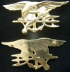 US Navy Seals Insignia Sterling / Gold Plate Navy Seals, Navy Seal insignia, Seal uniform insignia