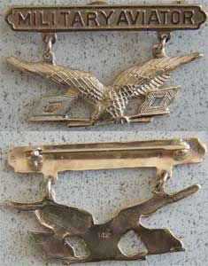 1913 Military Aviator 14k Gold 1913 wings, 1913 military aviator, military aviator, 14k gold wings, first pilot, air service, signal corp pilot