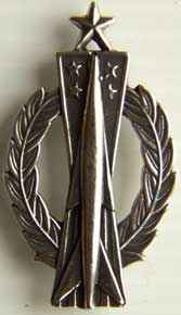 USAF Senior Missile Operator Badge Full Sterling USAF Missile operator, Missile Badge, Sterling Missile Badge, Senior Missile