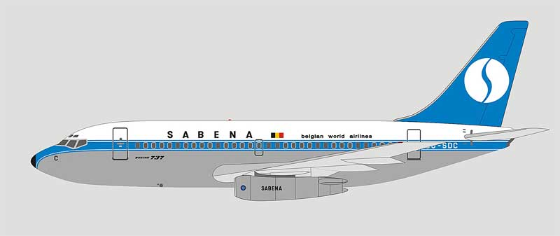 Sabena 737-200 OO-SDC (1:400), Witty Wings 400 Item Number WTW-4-732-005