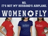 It's Not My Husband's Airplane T-shirt, Women Fly Item Number TS-WFNOTHB