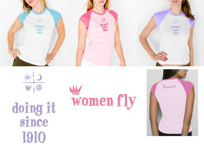 Doing It Since 1910 T-shirt, Women Fly Item Number TS-WFDOINGIT