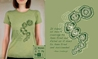 Element:Earth/Anne Lindbergh T-shirt, Women Fly Item Number TS-WFELEARTH