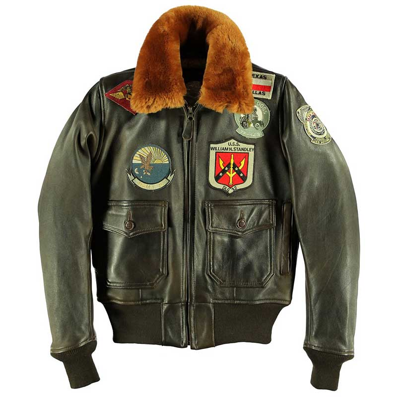 Womens G-1 TopGun Jacket with Patches, Cockpit/Avirex Leather Jackets Item Number W201036