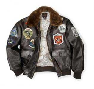 Top Gun Navy G-1 Jacket, Cockpit/Avirex Leather Jackets Item Number Z201036M