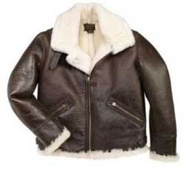 B-9 American Shearling Jacket, Cockpit/Avirex Leather Jackets Item Number Z2105