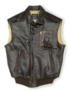 Stearman Leather Vest (USA) Large-Brown - Clearance Item