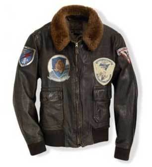 "Classic WWII Vintage Naval Aviators ""100 Mission"" Size 48 - Clearance Item, Cockpit/Avirex Leather Jackets Item Number Z21A0241-48"