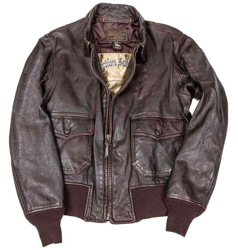 G-1 Jacket, USS Forrestal Carrier Pilots Flight Jacket, Cockpit/Avirex Leather Jackets Item Number Z21I024