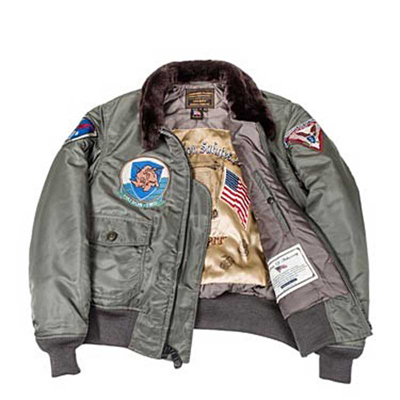 G-1 Flight Satin with Patches, Cockpit/Avirex Leather Jackets Item Number Z24E004I