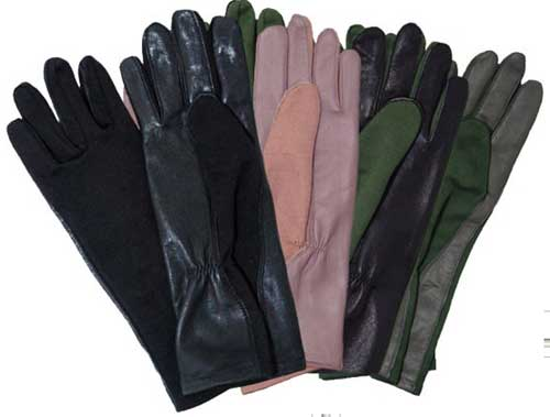 GSFRP Nomex USAF/USN Pilots Gloves, Cockpit/Avirex Leather Jackets Item Number Z99E001