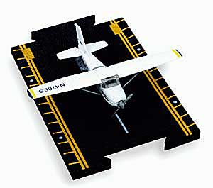 "Cessna 172 Skyhawk (Blue & White) (Approx. 5""), Hot Wings Toy Airplanes Item Number HW13107"