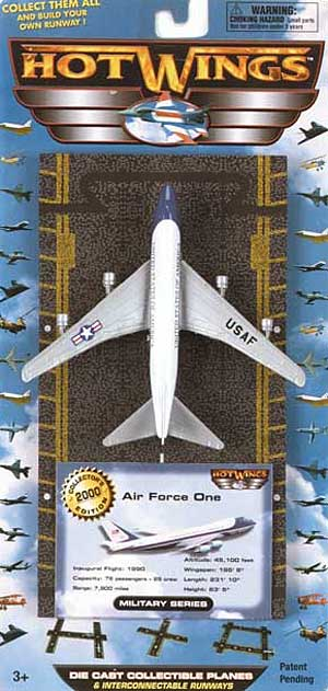 "Air Force One 747 (Approx. 5""), Hot Wings Toy Airplanes Item Number HW15107"
