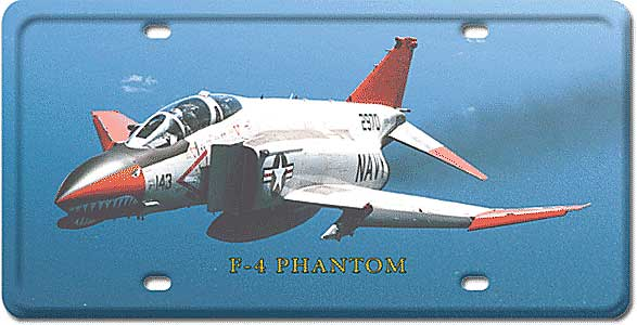 F-4 Phantom License Plate by Vintage Sign Company item number: LP29