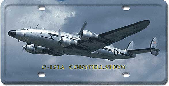 C-121A Constellation License Plate by Vintage Sign Company item number: LP39
