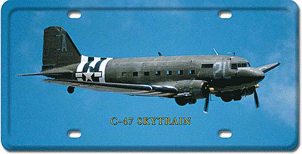 C-47 Skytrain License Plate by Vintage Sign Company item number: LP40