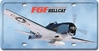 F6F Hellcat License Plate, Vintage Sign Company Item Number LP55