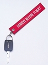 Embroidered Remove Before Flight Keychain, Born Aviation Aviation Gifts Item Number KC-ERM
