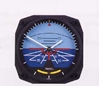 Artificial Horizon Wall Clock