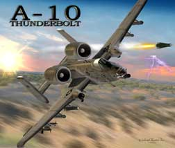 A-10 Thunderbolt Mouse Pad, Labusch Skywear Item Number MP-A10