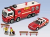 Fdny Fire Truck/Chief Car Set W/Accessories