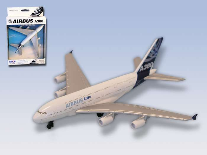 "Airbus A380 House Colors (6""), Realtoy Diecast Toys Item Number RT0380"