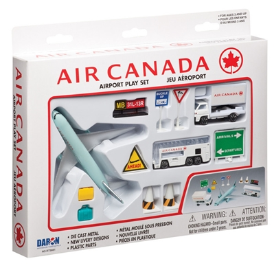 Air Canada 12 Piece Playset, Realtoy Diecast Toys Item Number RT5881