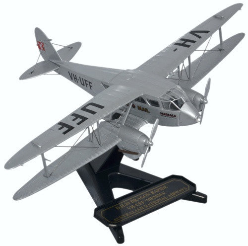 de Havilland DH.89 Dragon Rapide, Australian National Airways, VH-UFF, Oxford Diecast 1:72 Scale Models Item Number 72DR013
