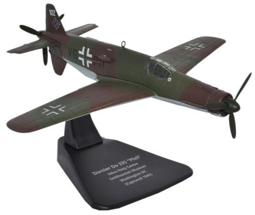 Dornier Do 335 Pfeil - VG+PH, Luftwaffe, April 1945 (Smithsonian Museum; only surviving example) (1:72), Oxford Diecast 1:72 Scale Models Item Number AC048