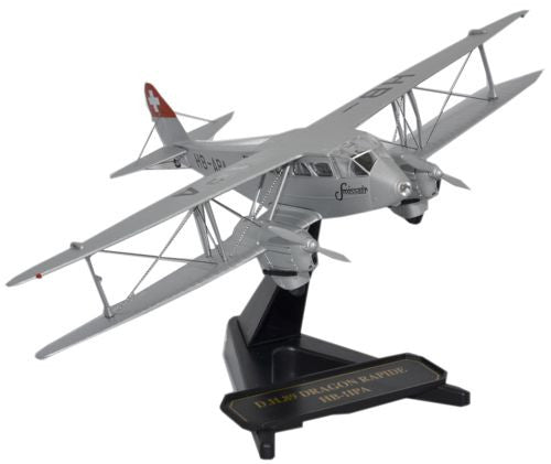 de Havilland DH.89 Dragon Rapide, Swissair (1:72), Oxford Diecast 1:72 Scale Models Item Number SP073