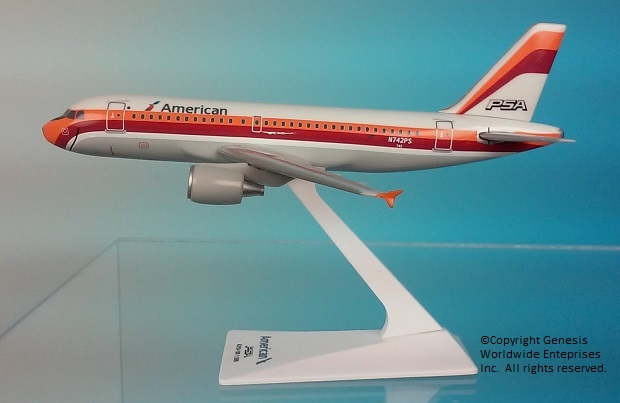 "American / PSA A319 ""Heritage Livery"" (1:200)"