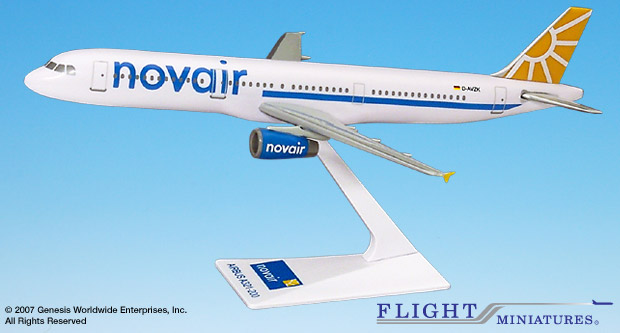 Novair A321 (1:200), Flight Miniatures Snap-Fit Airliners, Item Number AB-32100H-012