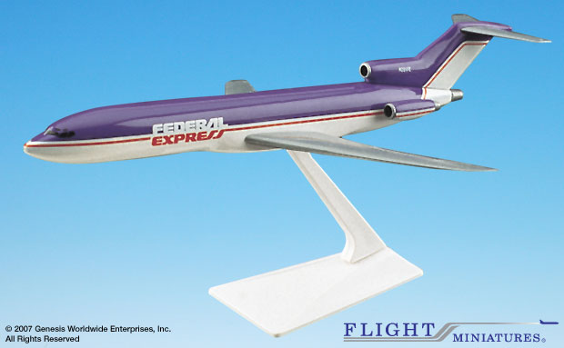 FedEx 727-200, Old Colors (1:200), Flight Miniatures Snap-Fit Airliners, Item Number BO-72720H-002